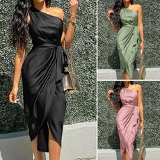 party, dressesforwomen, one shoulder dress, Evening Dress