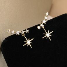 Sterling, DIAMOND, Jewelry, Stud Earring