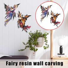 fairystatue, wallstickershomedecoration, fairyornament, Wall Art