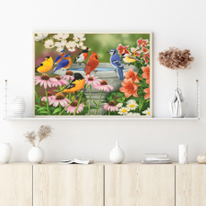 Home & Kitchen, Flowers, embroiderythread, diycrossstitchkit