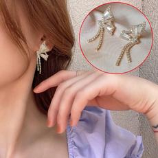 butterfly, Tassels, Hoop Earring, Jewelry