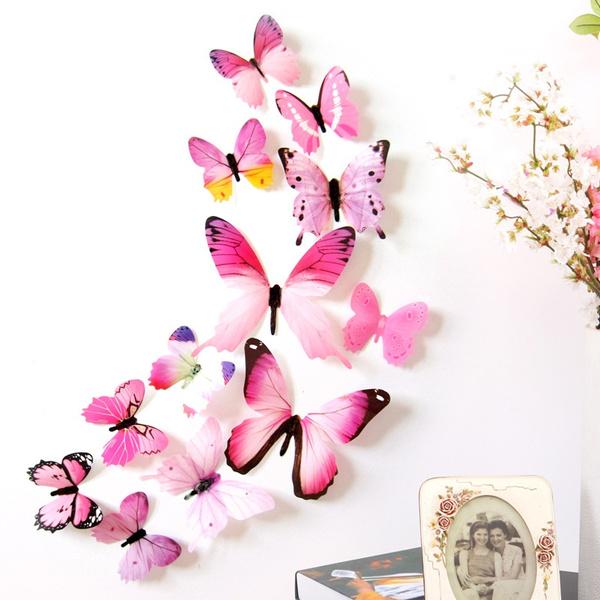 butterfly, 3dbutterfliesdecorremovablemuralstickersartdecor, Decor, Fashion
