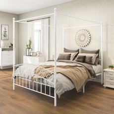 bedframesqueensize, bedplatform, Home & Living, Metal