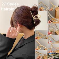 hair, Shark, gold, Clip