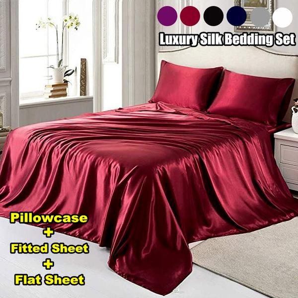 Summer, King, silkbedsheet, Bedding Sets
