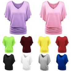 Summer, Moda, batsleevetopsforwomen, summer t-shirts