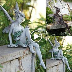 fairystatue, Decor, art, Garden