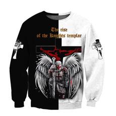 knightstemplar, Christian, Sweatshirts, Harajuku