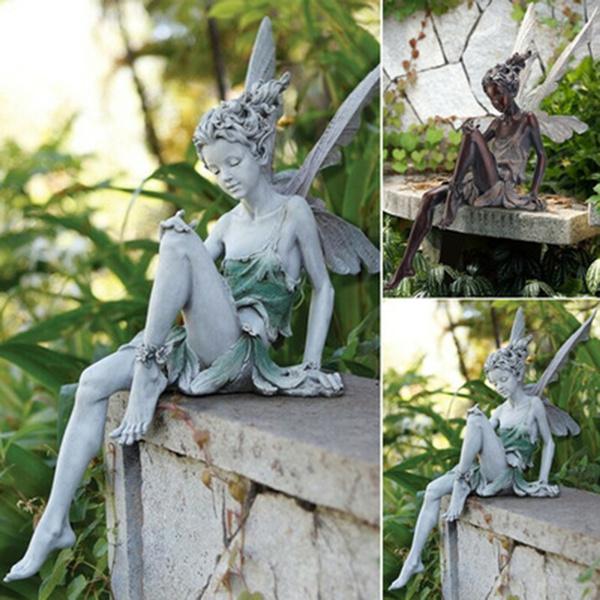Decor, gardenfairystatue, smallhomeshelfdecor, Garden