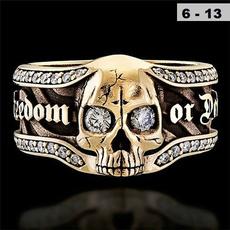 Sterling, Goth, Jewelry, skull