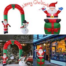 navidad, Christmas, santaclausdecoration, inflatablearchornament