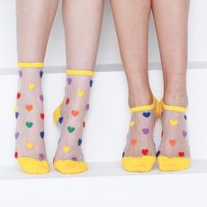 Hosiery & Socks, Heart, silk, Lace
