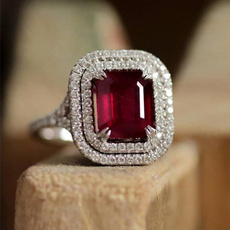 Couple Rings, Sterling, DIAMOND, rubyringring