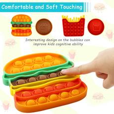 Toy, Hamburger, Silicone, sensory