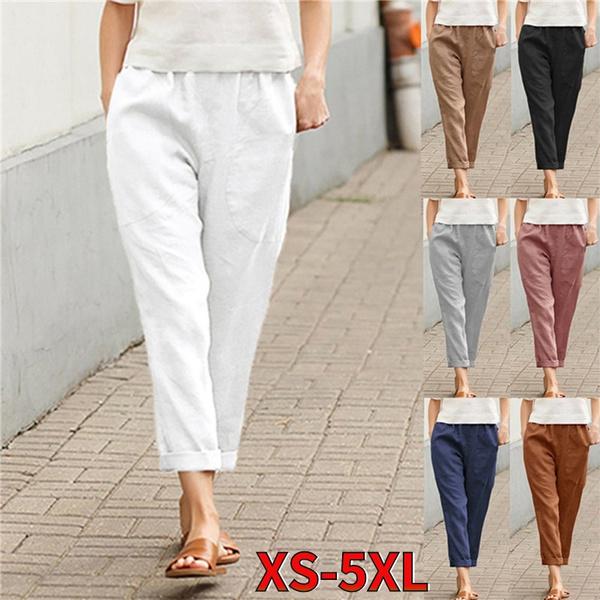 Women Pants, Cotton, Plus Size, hosendamen