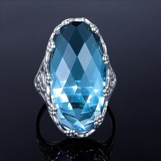 Blues, Sterling, womens ring, 925 sterling silver