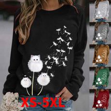 Plus Size, Long sleeve top, pullover sweater, loose shirt