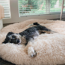 plushdogbed, large dog bed, kennelmat, donutdogbed