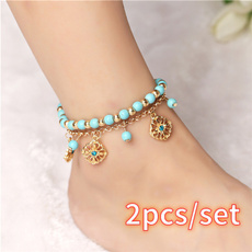 Blues, Turquoise, Flowers, Jewelry