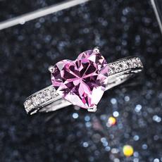 Heart, DIAMOND, Love, Engagement Ring