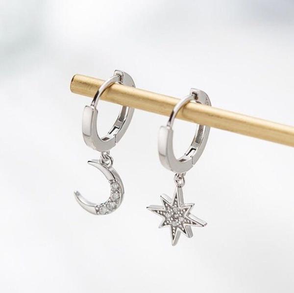 Sterling, Fashion, Star, Sterling Silver Earrings