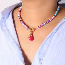 Chain Necklace, shellnecklace, Joyería, Chain