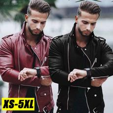 motorcyclejacket, Plus Size, leather, Coat