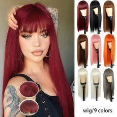 wig, Black wig, Cosplay, longstraightwig