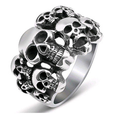 Couple Rings, Fashion, Jewelry, skull