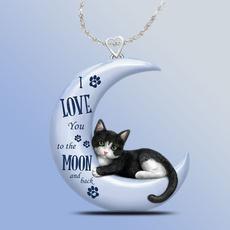 petcatpendant, bluecrescentnecklace, glamourprincessnecklace, Gifts