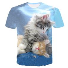 roundneckshirt, Shorts, 3dprintedcatsshirt, Shirt