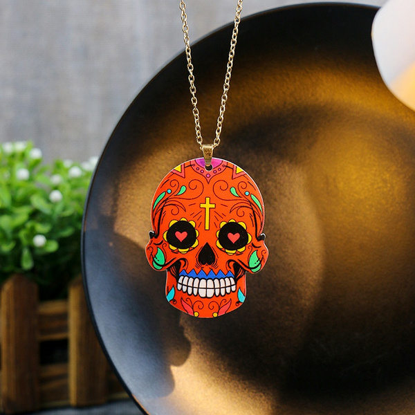 ghost, skullnecklace, punk necklace, Jewelry