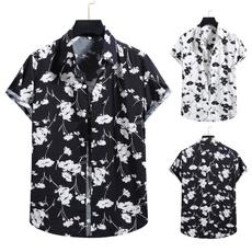 Summer, Fashion, Hawaiian, Sleeve