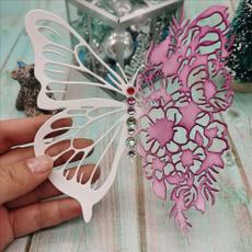 scrapbookingmold, butterfly, stencil, Metal