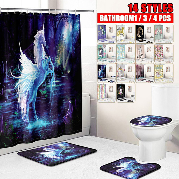 Bathroom, Bathroom Accessories, unicornbathmat, Colorful