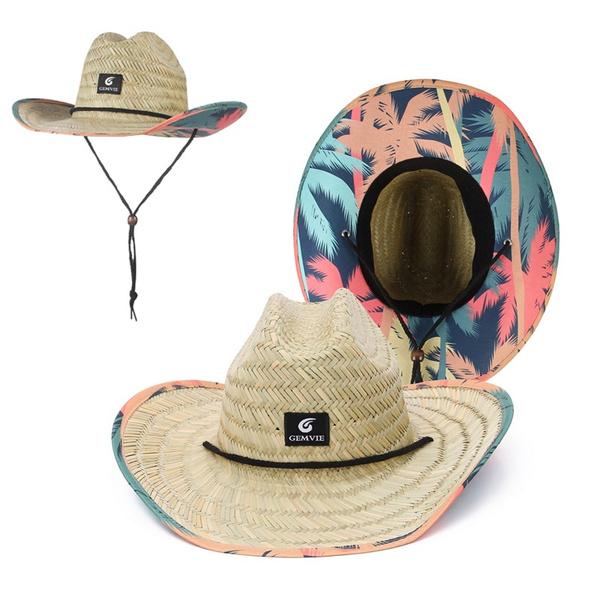 Summer, Fashion, Beach hat, printed