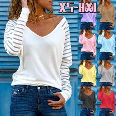 Tops & Tees, Plus Size, Long Sleeve, V-neck