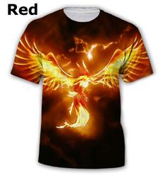 3dphoenixprintingtee, Funny T Shirt, Phoenix, Tops