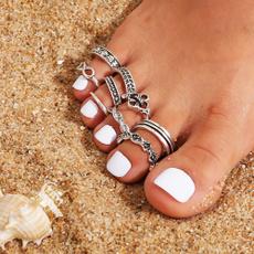 Summer, adjustableopen, toeringsset, Jewelry