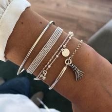 Charm Bracelet, Clover, Fashion, Jewelry