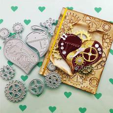Craft, backgrounddie, steampunkcuttingstencilsdie, embossingfolderdie