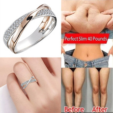 Sterling, Fashion, 925 silver rings, gold