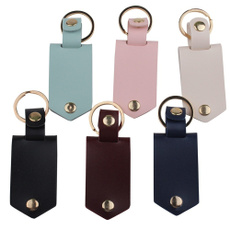 Key Chain, Waist, Aluminum, leather