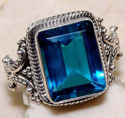 Sterling, Blues, Fashion, 925 sterling silver