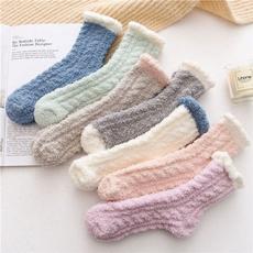 wintersock, Fleece, womensock, velvet