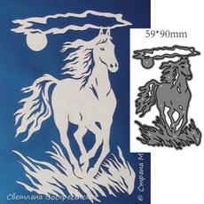 Craft, horse, backgrounddie, embossingfolder