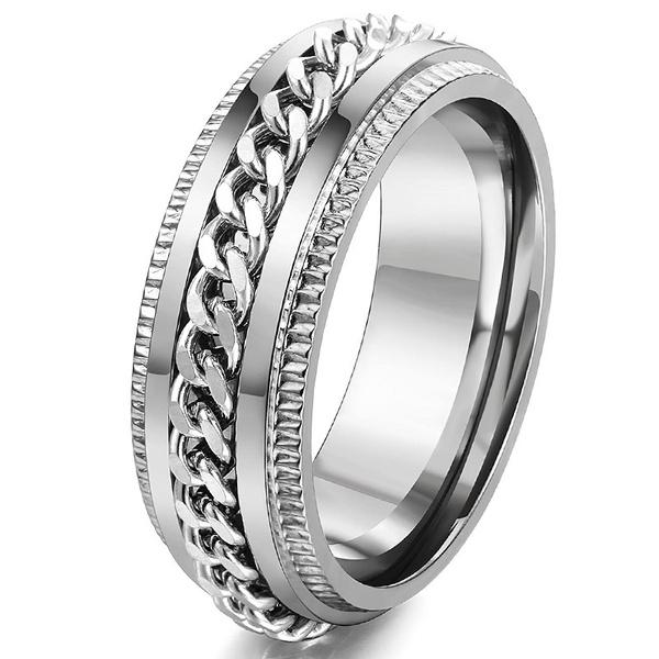 dianmondring, ringsformen, 8MM, 925 sterling silver