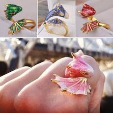 cute, Fashion, dragonring, gold