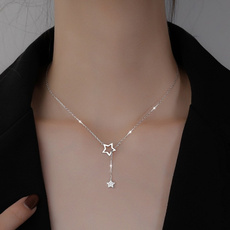 925 sterling silver necklace, clavicle  chain, oldfashionnecklace, punk necklace