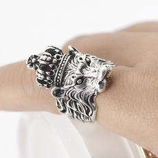 lionring, Fashion, Jewelry, openingringexaggeratedmaledomineering